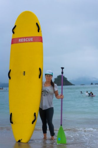 Stand Up Paddle Board instructor in Takahama town, Fukui Prefecture, Japan.