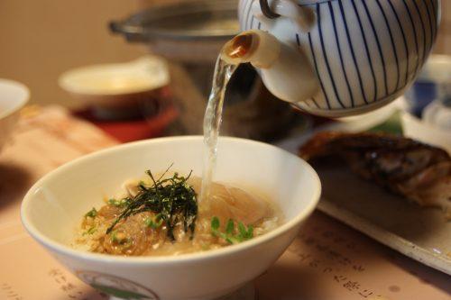 Taste Tai chazuke in Kitsuki, Oita, Kyushu Island in depth, in Japan.