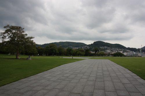 Strolling in the harbor and visiting Dejima in Nagasaki, Kyushu, Japan.