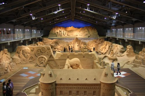 Tottori sand museum in Tottori prefecture along the sea of Japan.