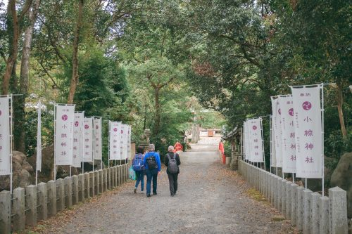 On the way to one of the Ogi Shrines, Shiga Prefecture, near Kyoto, Japan