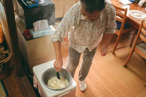 Cooking at Ogi's premises in Shiga Prefecture, near Kyoto, Japan