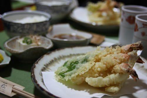 A quick meal at Tempuran Kappou Mimatsu in Kurashiki, Okayama.