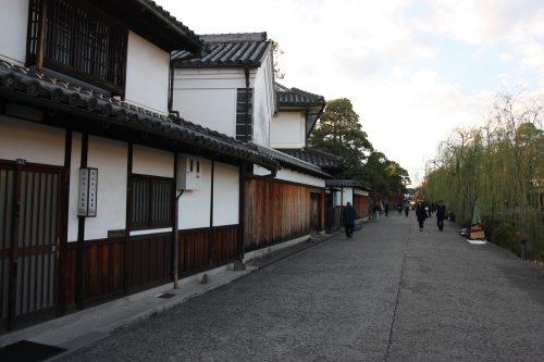 Merchant homes in the Bikan historic distict of Kurashiki, Okayama.