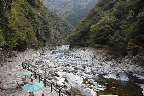 Hot Springs bath along the Iya River.