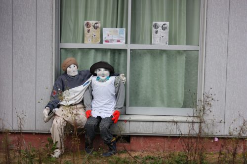 The cute scarecrows of Kakashi no Sato in the Iya Valley.