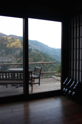 Views of the surrounding mountainside at Ochiai hamlet in Tokushima.
