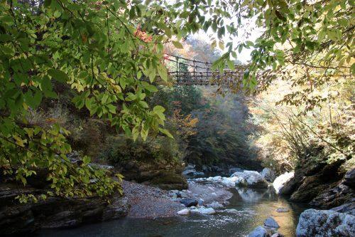 Vine Bridge at Iya Valley, Tokushima.