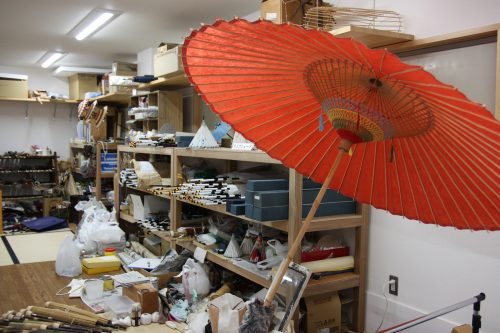 Explore the workshop of Japanese umbrella craftsmen in Tokushima Prefecture.
