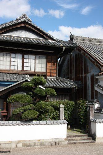 Elegant merchant homes of Udatsu, Tokushima Prefecture.