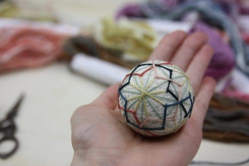Temari, a traditional Japanese craft made in Kagawa Prefecture, Japan.
