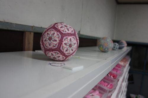 The art of making Temari at a workshop in Kagawa Prefecture, Japan.
