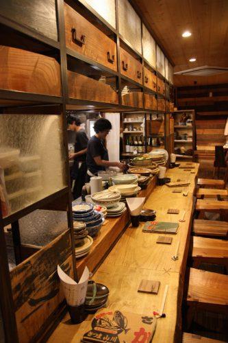The izakaya Renge Ryouriten restaurant in Takamatsu, Kagawa Prefecture.