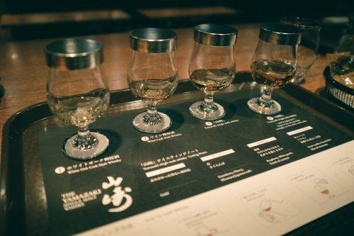 Whiskey tasting at Yamazaki Distillery, Osaka, Kansai Region, Japan