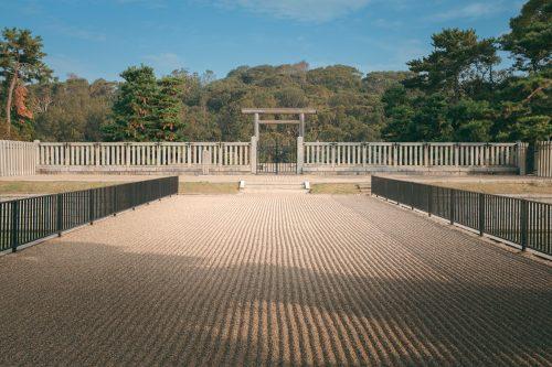 Nintokuryo, Japan's largest kofun, in Sakai, Osaka, Kinki, Japan