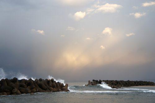 View of the Sea of Japan from Kaike Onsen, San'in Region, Japan