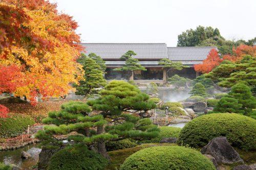 Yuushien Japanese Garden, not far from Adachi Museum of Art, Yasugi, Shimane Prefecture, San'in Region, Japan