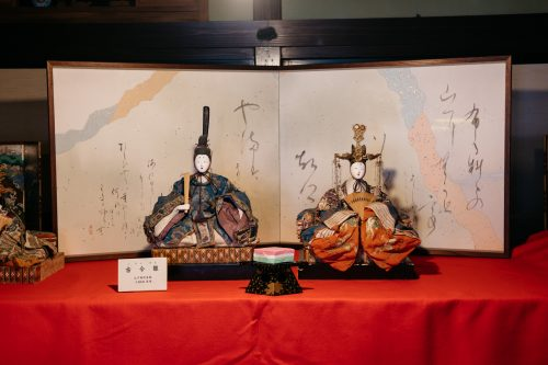 Antique dolls used for Hinamatsuri in Kakunodate.