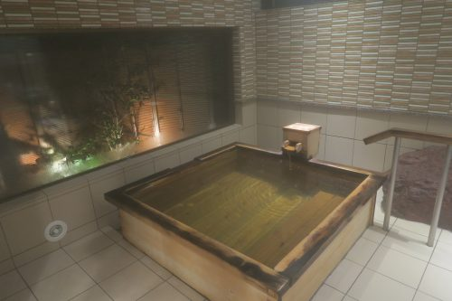 One of three private onsen at Ryokan Masagokan.