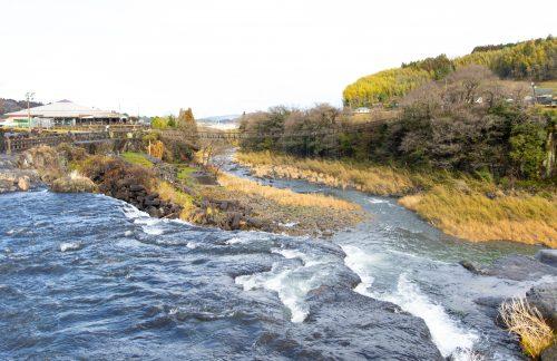 Harajiri waterfalls in Bungoonno, Oita, Kyushu, Japan.