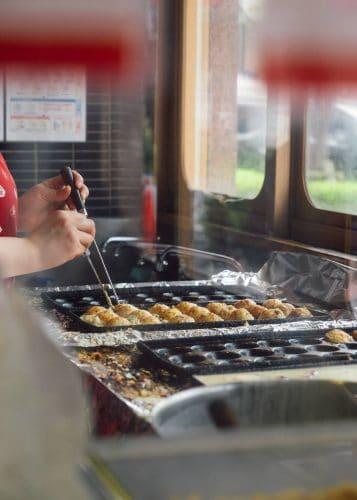 Making takoyaki