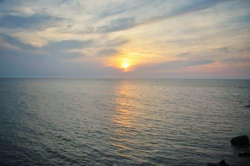 Sunset viewed from Ojika Island