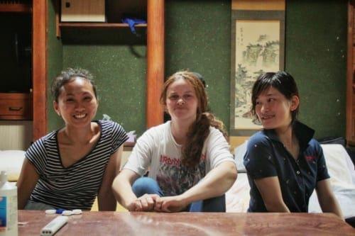 Volunteer workers at Shimayado Goen on Ojika Island