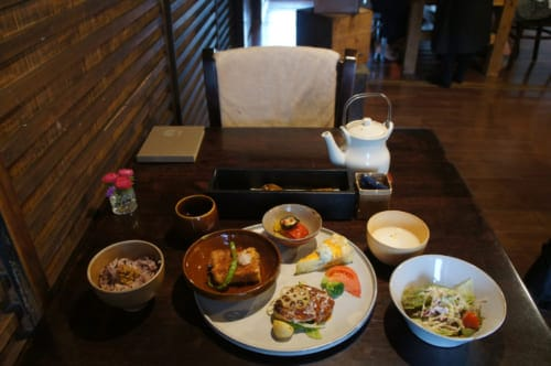 Café Kotodama's lunch menu: varied Japanese and Western dishes