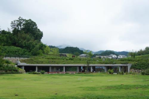 A modern building near the Kitora kofun