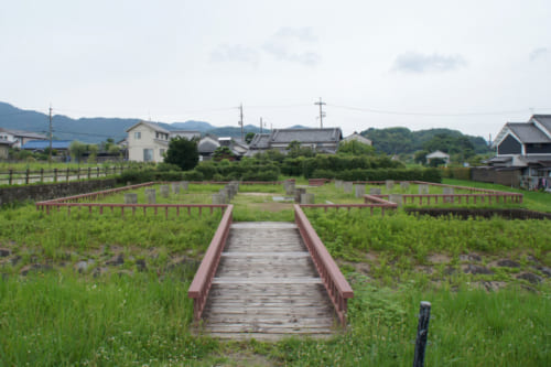 Archaeological site of a water clock from the Asuka period