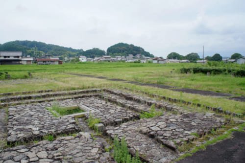 Archaeological site of a palace dating from the Asuka period