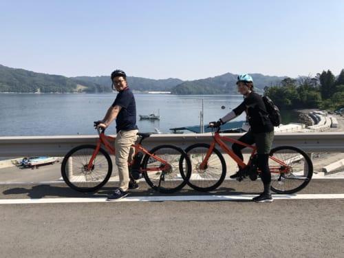 Cycling in Kamaishi City.