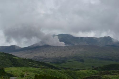 Mt Nakadake in Kumamoto
