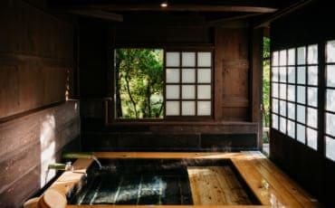 private onsen hot springs at Yuka Onsen