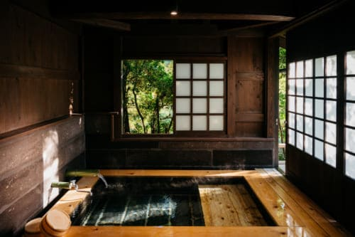 private onsen hot springs at Yuka Onsen