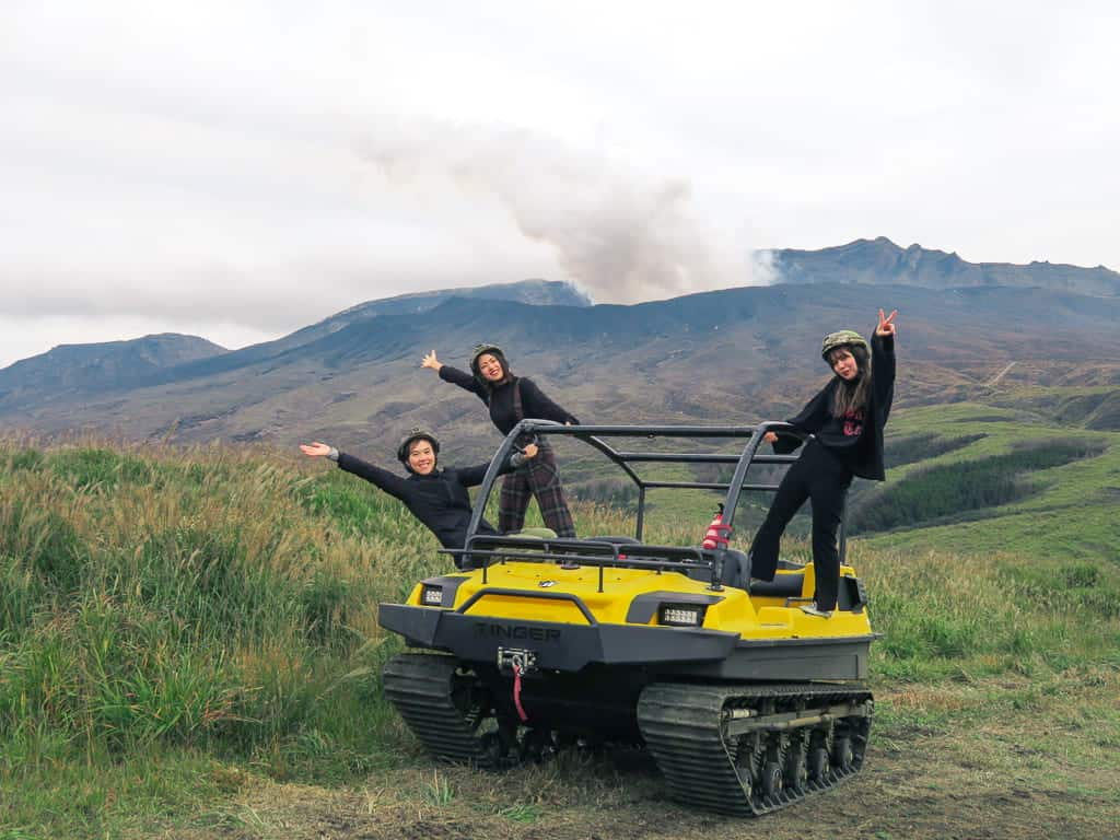 All-Terrain Vehicle on Adventure Track in Aso, Kumamoto