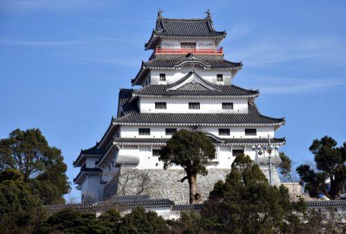 Das Schloss Karatsu, Saga, Japan