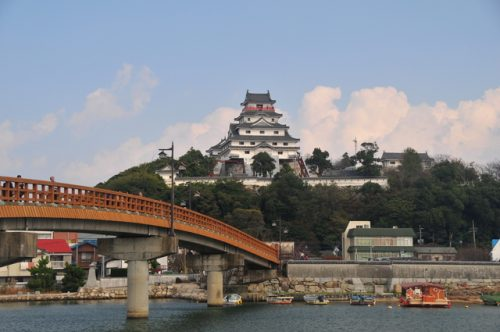 Die Stadt Karatsu, Saga, Japan