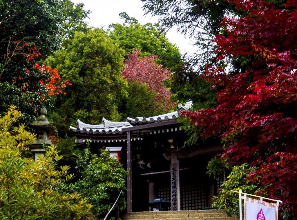 Sanki Do, ein weiterer Pavillon, Miyajima, Hiroshima, Japan.