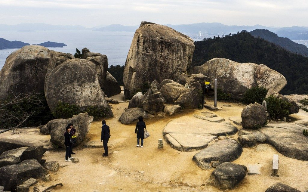 Felsen auf dem Berg Misen, Miyajima, Hiroshima, Japan