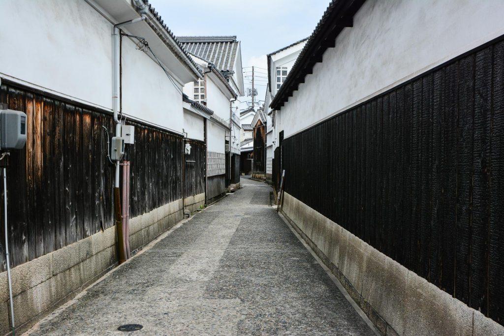 Die historischen Straßen im Bikan Viertel.
