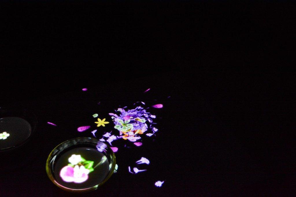 """Die Ausstellung """"Ein Wald, in dem Götter leben"""", produziert von Teamlab im Mifuneyama rakuen Garten in Takeo onsen, Saga, Japan"""