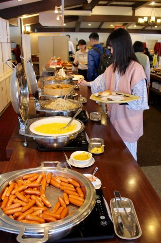 Essen im Manza Kogen Hotel