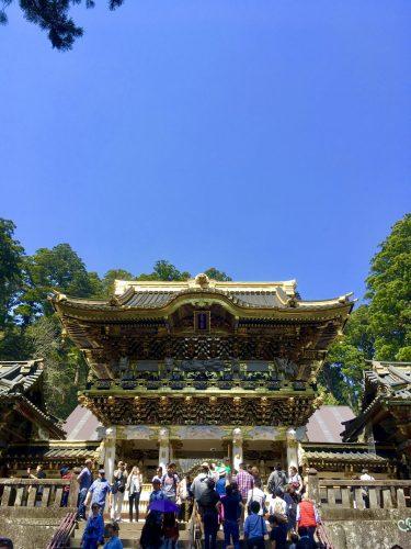 Das Yomeimon-Tor ist ein Nationalschatz Japans, Nikko Toshogu, Tochigi, Japan.