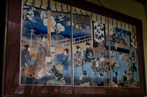 Murakami Machiya Byobu Festival, traditionelle Lackwaren und Wandschirme, Präfektur Niigata, Japan.