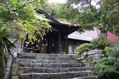 Übernachtem im Shukubo (buddhistischer Tempel) auf dem Berg Daisen, Präfektur Tottori, Japan.