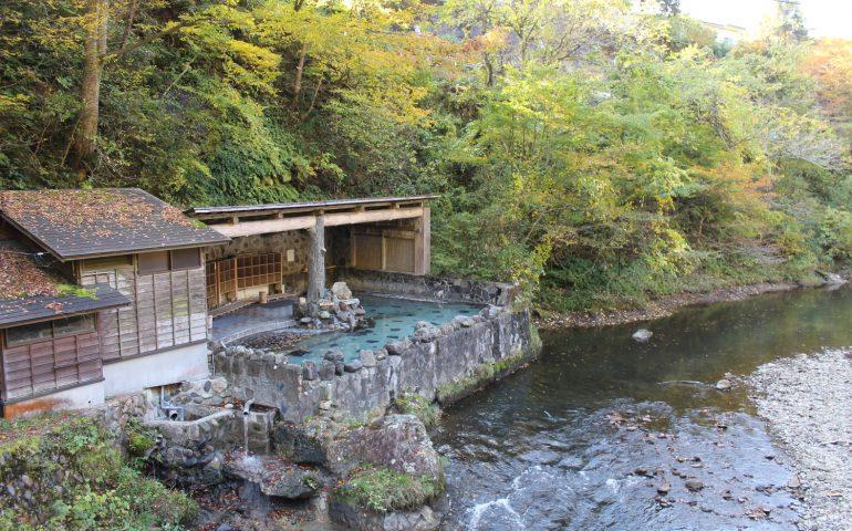 Das Osawa Onsen in Hanamaki, Präfektur Iwate, Japan.
