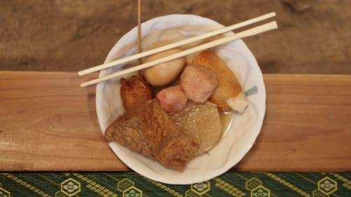 Ein Festmahl aus lokalen Produkten.