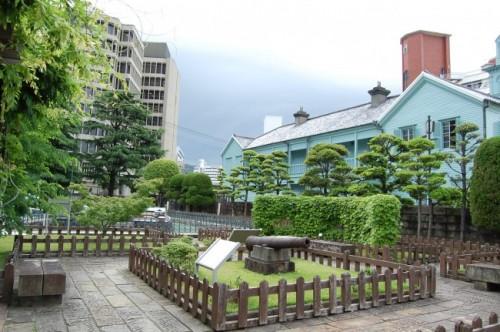 Dejima, pequeña isla en el interior de Nagasaki (Japón).