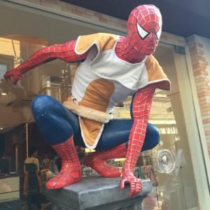Figura de Spiderman en Japón